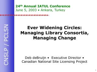 24th Annual IATUL Conference June 5, 2003   Ankara, Turkey