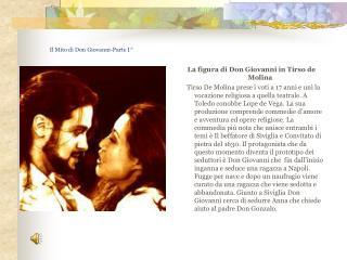Il Mito di Don Giovanni-Parte I