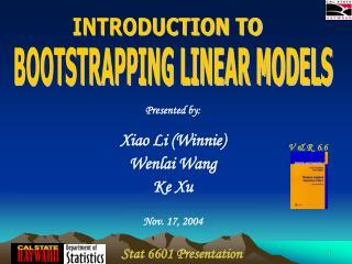 Stat 6601 Presentation