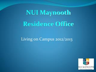 Living on Campus 2012