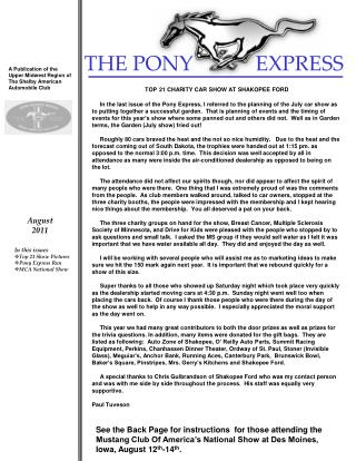 THE PONY            EXPRESS