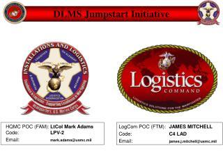HQMC POC FAM: LtCol Mark Adams Code: LPV-2 Email: mark.adamsusmc.mil