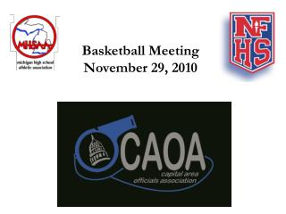 Basketball Meeting November 29, 2010