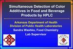Arkansas Department of Health Division of Public Health Laboratories