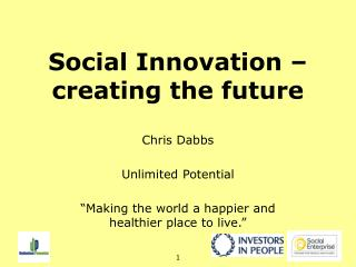 Social Innovation   creating the future