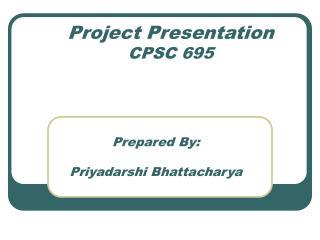 Project Presentation CPSC 695