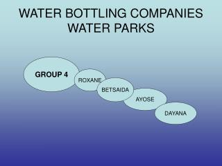 WATER BOTTLING COMPANIES WATER PARKS