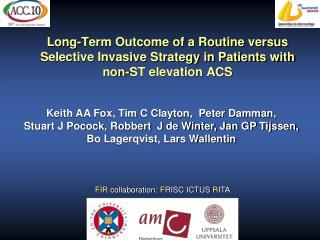 Long-Term Outcome of a Routine versus Selective Invasive Strategy in Patients with non-ST elevation ACS