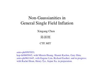 Non-Gaussianities in General Single Field Inflation