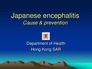 Japanese encephalitis  Cause  prevention
