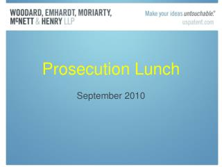 Prosecution Lunch