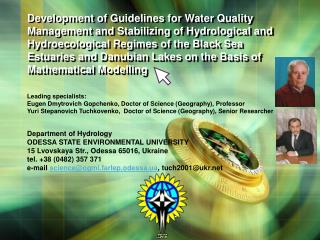 Development of Guidelines for Water Quality Management and Stabilizing of Hydrological and Hydroecological Regimes of th