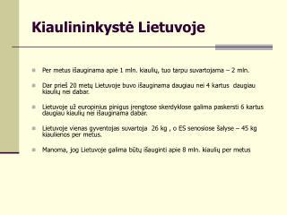 Kiaulininkyste Lietuvoje