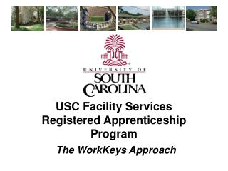 USC Facility Services  Registered Apprenticeship Program
