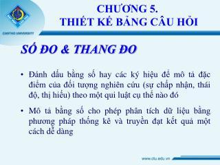 CHUONG 5.  THIT K BNG C U HI