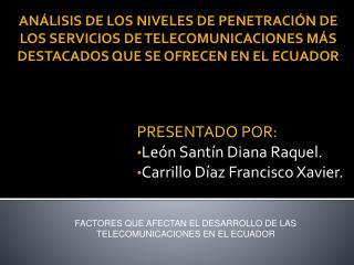 PRESENTADO POR: Le n Sant n Diana Raquel. Carrillo D az Francisco Xavier.