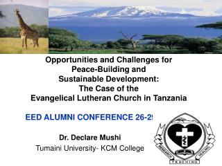 Opportunities and Challenges for  Peace-Building and  Sustainable Development:  The Case of the  Evangelical Lutheran Ch