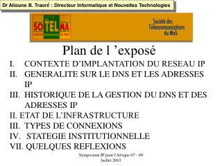 Symposium IP pour lAfrique 07 - 09 Juillet 2003
