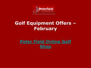 Offers on Golf Equipments