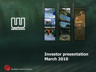 Investor presentation March 2010