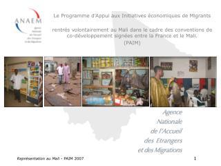 Repr sentation au Mali - PAIM 2007      1