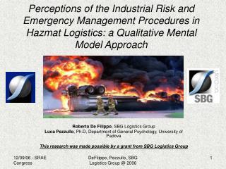 Perceptions of the Industrial Risk and Emergency Management Procedures in Hazmat Logistics: a Qualitative Mental Model A