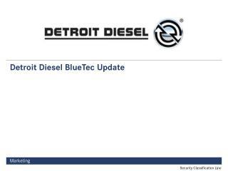 Detroit Diesel BlueTec Update