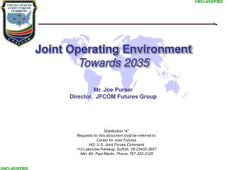 Joint Operating Environment Towards 2035