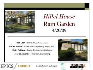 Hillel House Rain Garden 4