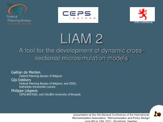 LIAM 2 A tool for the development of dynamic cross-sectional microsimulation models