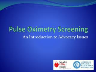Pulse Oximetry Screening