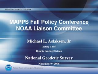 MAPPS Fall Policy Conference NOAA Liaison Committee