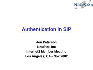Authentication in SIP