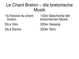 Le Chant Breton   die bretonische Musik