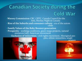 Canadian Society during the Cold War