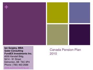 Canada Pension Plan 2010
