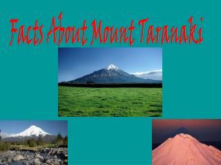 Facts About Mount Taranaki