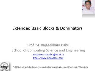 Extended Basic Blocks  Dominators