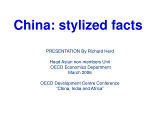 China: stylized facts