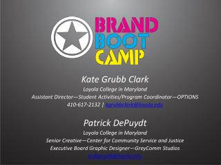 Kate Grubb Clark Loyola College in Maryland Assistant Director Student Activities