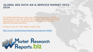 Global Big Data-as-a-service Market 2012-2016