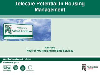 Ann Gee Head of Housing and Building Services