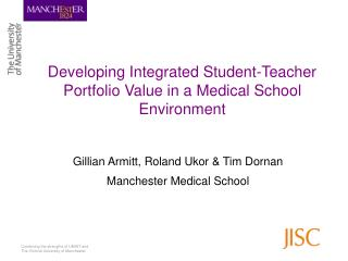 Developing Integrated Student-Teacher Portfolio Value in a Medical School Environment