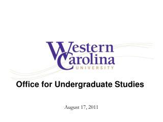 Office for Undergraduate Studies