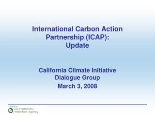 International Carbon Action Partnership ICAP: Update
