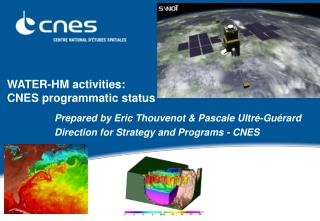WATER-HM activities: CNES programmatic status