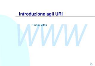 Introduzione agli URI