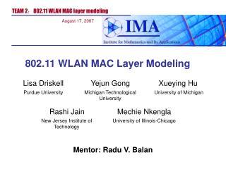Mentor: Radu V. Balan