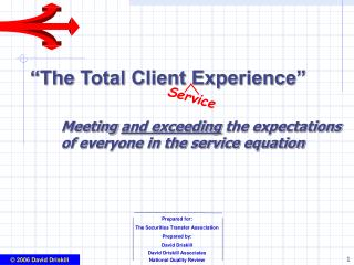 The Total Client Experience