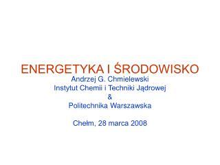 ENERGETYKA I SRODOWISKO